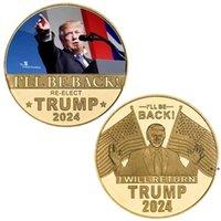 트럼프 2024 동전 기념 공예 revenge 투어 아메리카를 다시 저장 금속 배지 Nhf9101