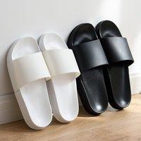 70% Off Wholesale Sandals Flip-Flops Summer Men Slippers Simple Black White Lovers Shoes Non-slip Bathroom Slides Flip Flops Indoor Women Platform 36-45