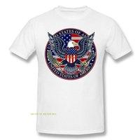 Männer T-Shirts USA Patriotische Adler 100% Baumwolle Mode O Neck Custom gedruckt Männer T-Shirt