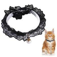 1 unid collar de mascotas adorable diamantes de imitación ajustable decoración de encaje collar para perros pequeños gatos suministros accesorios de ropa ropa de perro