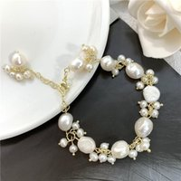 Природный барокко в форме пресноводных жемчужных браслетов для женщин легкие роскоши моды 14 K позолоченные браслеты ювелирные изделия подарок бисером, стран