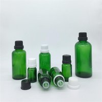 5ml 10ml 15ml 20 ml 30ml 50ml 100ml 녹색 유리 병, 튜브 탬퍼와 필수 오일 병 탬퍼 뚜껑 향수 병 저장 항아리
