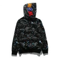 Mens Womens Designer Hoodies Jogger Tracksuit Pullover Sportwear Fleece Sweatshirt 회색 블랙 힙합 에어 Luminous Supre Shark Jacket M-3XL
