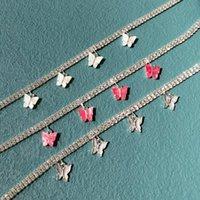 Chaokers perdu dame mode ing de diamant collier tempérament dames papillon double rangée bijoux en gros directement
