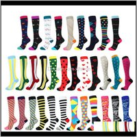 37 Styles Men Women Socks Fit Sports Happy Compression Stocking For Anti Fatigue Pain Relief Knee High Stockings Kt7Ge Orf8E