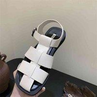 2021 Sandálias de verão feminino tecer sapatos senhoras moda mulheres slides sapatos fora plana com casual para mulher sandálias sapatos wenshet