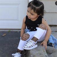 Yaz Yeni Çocuk Giyim Kız Fishnet Tayt Çocuk Delikleri Moda Çorap Tayt 3 Renkler 3 Boyutları 907 V2