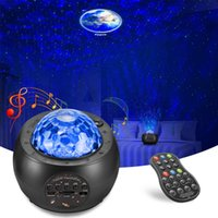 LED Star Galaxy Projector Night Light Bluetooth Music Planet Colorful Projection Lamp Children's Kids Decorate Bedroom Lamp Gift