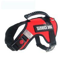 Lona reflectante Big Dog Harness Service Chaleco de perro Transpirable Mango ajustable Control de seguridad Caminar para perros grandes grandes 1438 V2