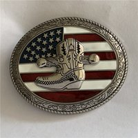 US Flag Boots Western Cowboy Belt Buckle For Fashion Mens Belts Accessories