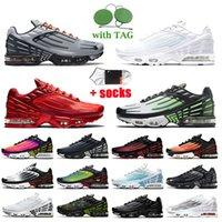 Nike Air Max Plus 3 Tuned Tn 3 Plus 여성 남성 운동화 그레이 화이트 크림슨 레드 그린 아쿠아 레이저 블루 흑요석 트레이너 스니커즈 빅 사이즈 EUR 46