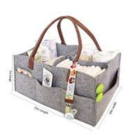 Storage Bags Felt Baby Diapers Bag For Stroller Mummy Nappy Changeable Milk Bottle Multifunctional Maternity Handbags