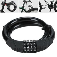Bike Locks Metal Cable 4 Digit Code Combination Durable Bicycle Security Mountain Road MTB Parts Anti Theft Cycling Equipment