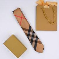 Klassieke 7cm High-end Silk Tie Fashion Design Heren Business Silks Ties Jacquard Bedrijven Bruiloft Tiess met Boutique Box