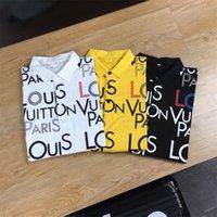 21ss erkek Yaz Üst Rahat T-shirt Polo Kısa Kollu Gömlek Marka Giyim Mektubu Desen 052