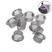 Табак для курения трубы металлические шариковые фильтры серебряные и латунные из нержавеющей стали 16 мм сетчатые чаши сетки для сжигания для драгоценного камня кварцевые каменные кристаллические трубы