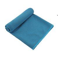 Asciugamano di raffreddamento sportivo Microfibra Asciugamani fresca istantanea del viso del ghiaccio per la palestra Yoga che corre 30x100cm Asciutto rapido con custodia in silicone NHF6515