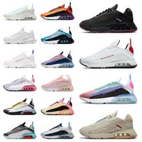 Sapato Nike Air Max Airmax 2090 Tênis de corrida masculino e feminino  Crimson Racer Pincelada Mal Rosa Rosa Praia Grande Aurora Platina Sapatilhas esportivas masculinas femininas