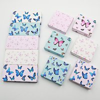 Butterfly Paper eyelash packaging box lashes boxes Marble Suitable for 10mm- 25mm 3D mink eyelashes Empty square case