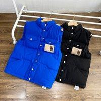 Moda uomo Gilet inverno down gilet di alta qualità womens tuta sportiva mens parkas unisex cappotti a contrasto colore casual lettera modello S-3XL