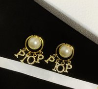 الأزياء اللؤلؤ أقراط لسيدة المرأة حزب عشاق الزفاف هدية مجوهرات الاشتباك للعروس حلق الظهر مع مربع HB0430