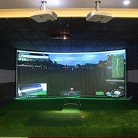 Ayudas de entrenamiento de golf 300 cm x 200 cm Simulador Pantalla de visualización de impacto interior Paño blanco para el objetivo de ejercicio F