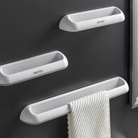 Bath Accessory Set Punch-free Bathroom Towel Holder Kitchen High Quality Rack Creative Seamless Wall-mounted Slippers Hanging