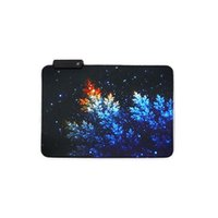 Mouse Pads & Wrist Rests Colorful Laptop Luminous Non Slip LED Lighting RGB Table USB Cable Home Office For PC Rubber Decorative Gaming Pad