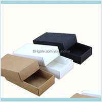 Wrap Event Festive Party Supplies Home & Garden10 Sizes Black White Packaging Kraft Blank Gift Paper Box With Lid Carton Cardboard1 Drop Del