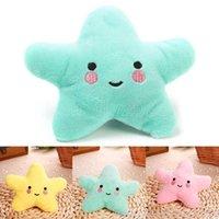 13 * 13 * 5 cm 3 Color PET PET juguetes vocales de felpa de estrellas de mar Juguete de perro de cinco puntas Mascotas de cinco puntas T9I001256