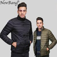 NewBang Brand UnlaLight Down Куртка Мужские Пальто Мужской Осень Осень Зимняя Двухсторонняя Обратимая ветрозащитный Олэтвегт Parka