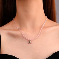 Chokers Fashion Crystal Strand Clavicle Necklace For Women Butterfly Pendant Girl Statement Bohemian Jewelry Ins Birthday Gifts