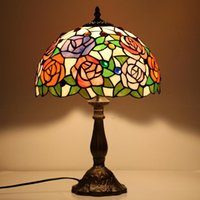Table Lamps Tiffany Lamp Stained Glass European Baroque Classic For Living Room E27 110-240V