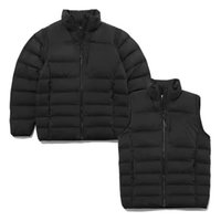 2 in 1 Winter Warm Men Women Jackets Vest Down Cotton Sleeves Detachable Stand Collar Causal Sport Outerwear Coats Fashion Designer Streetwear JK124