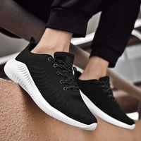 Mens Shoes 2021 Spring Men Mesh Breathable Lightweight Exercise Casual Runner Trendy Black Travel Shoes