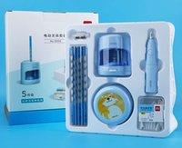편지지 전기 5 피스 로타리 펜 나이프 지우개 구멍 연필 탁상용 아티팩트 청소