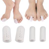 20 pcs respirável toe protetor de dedos dos dedos dos pés mangas com orifícios de ar, protege para fornecer alívio de unhas, centavos, dedos do martelo, reduzir o atrito, reduzir o atrito