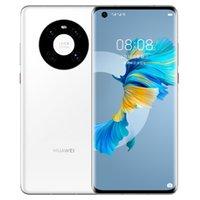 "Original Huawei Mate 40e 5G Mobiltelefon 8 GB RAM 128GB 256GB ROM KIRIN 990E 64.0mp AI 4200MAH Android 6.5 ""Gekrümmter Vollbild-Fingerabdruck-ID FACE NFC IP53 Smart Handy"