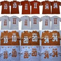 NCAA 2020 Texas Longhorns Football 11 Sam Ehlinger 7 Shane Buechele 10 Vince Young 20 Earl Campbell 34 Ricky Williams Zucchero ciotola 150a maglie