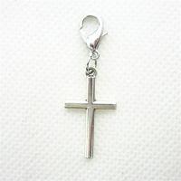 100pcs / lot tibetan argento croce incrocio ciondoli pendenti aragosta stringili ciondoli ciondoli per gioielli facendo fai da te collana braccialetto 1105 q2