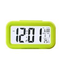 Smart Sensor Nightlight Réveil numérique avec calendrier thermomètre de température, table de bureau de table de bureau silencieux Swooze 406 V2
