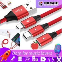 Cell Phone Cables factory direct sales data charging cable is suitable for USB Xiaomi Samsung Huawei Mate 20 Pro Honor 10 extended three-in-one plug