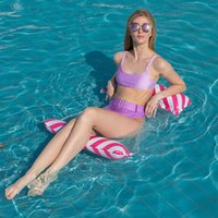 Pool & Accessories Summer Water Hammock Swimming Beach PVC Air Mattress Lounger Floating Sleeping Cushion Inflatable Bed