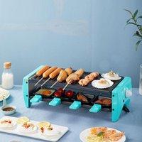 مخيم مطبخ الشواية الكهربائية المنزلية خبز لوحة الشواء الكورية غير عصا وعاء الحديد آلة اللحوم BBQ