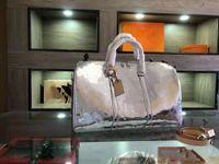 Mão Bagagem Saco de Viagem Prata Bolsa Embossed Boston Europeia e Americana Estilo Americano Homens Unisex Mulheres Duffel Duffle Bags