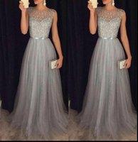 Elegant Formal Evening Party Womens Dresses Mesh Sleeveless High Waist Sequins Shinning Wedding Ball Prom Gown Long Dress