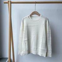 Camisolas femininas 2021 Retro desgastado inverno 100% cashmere em torno do pescoço Solto suéter