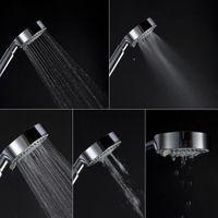 5 가지 기능 수분 절약형 핸드 헬드 샤워 헤드 고품질 표준 크기 노즐