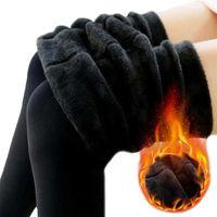 Winter Leggings Knitting Velvet Casual Legging New High Elastic Thicken Lady's Warm Black Pants Skinny Pants For Women Leggings C0930