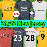 21/22 Wolves Soccer Jerseys Wanderers Semedo Neves Raul 2021 2022 Adama Fábio Silva Podva Podence J.otto Hommes + Kit Kit Kit Jersey Football Shirt Uniforms